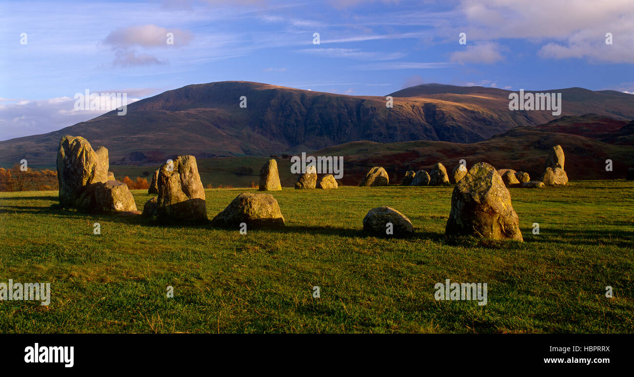 Castlerigg Stone Circle near Keswick, Lake District, Cumbria, England, UK - Stock Image