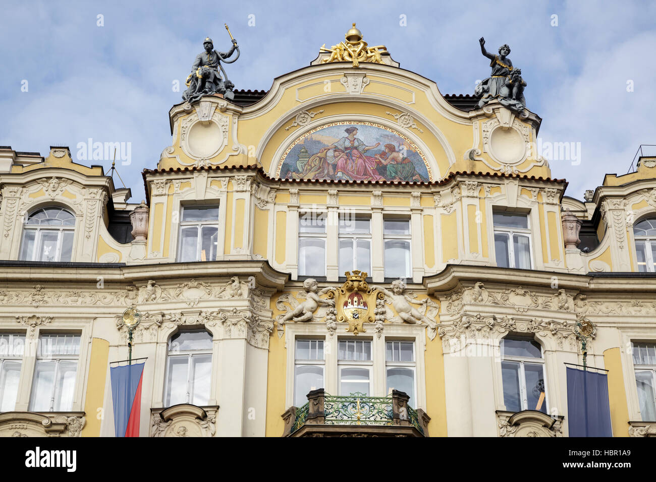 Ministry of Local Development building on the Old Town Square – Art Nouveau building designed by Architect Osvald - Stock Image