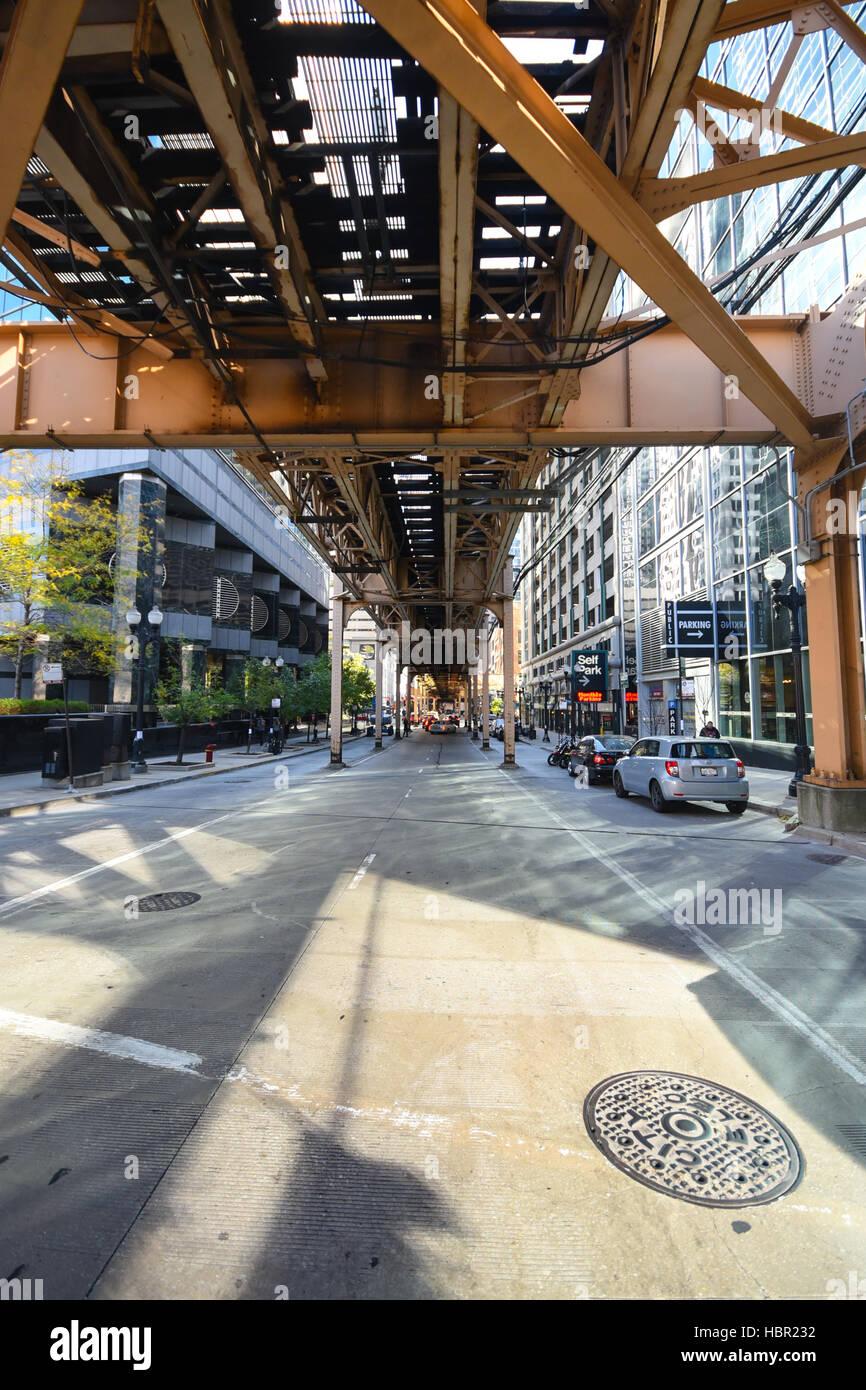 CTA Railways in Chicago, Illinois. - Stock Image