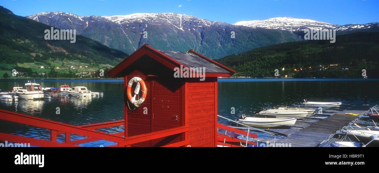 Hardanger Fjord. Ulvik. Norway - Stock Image