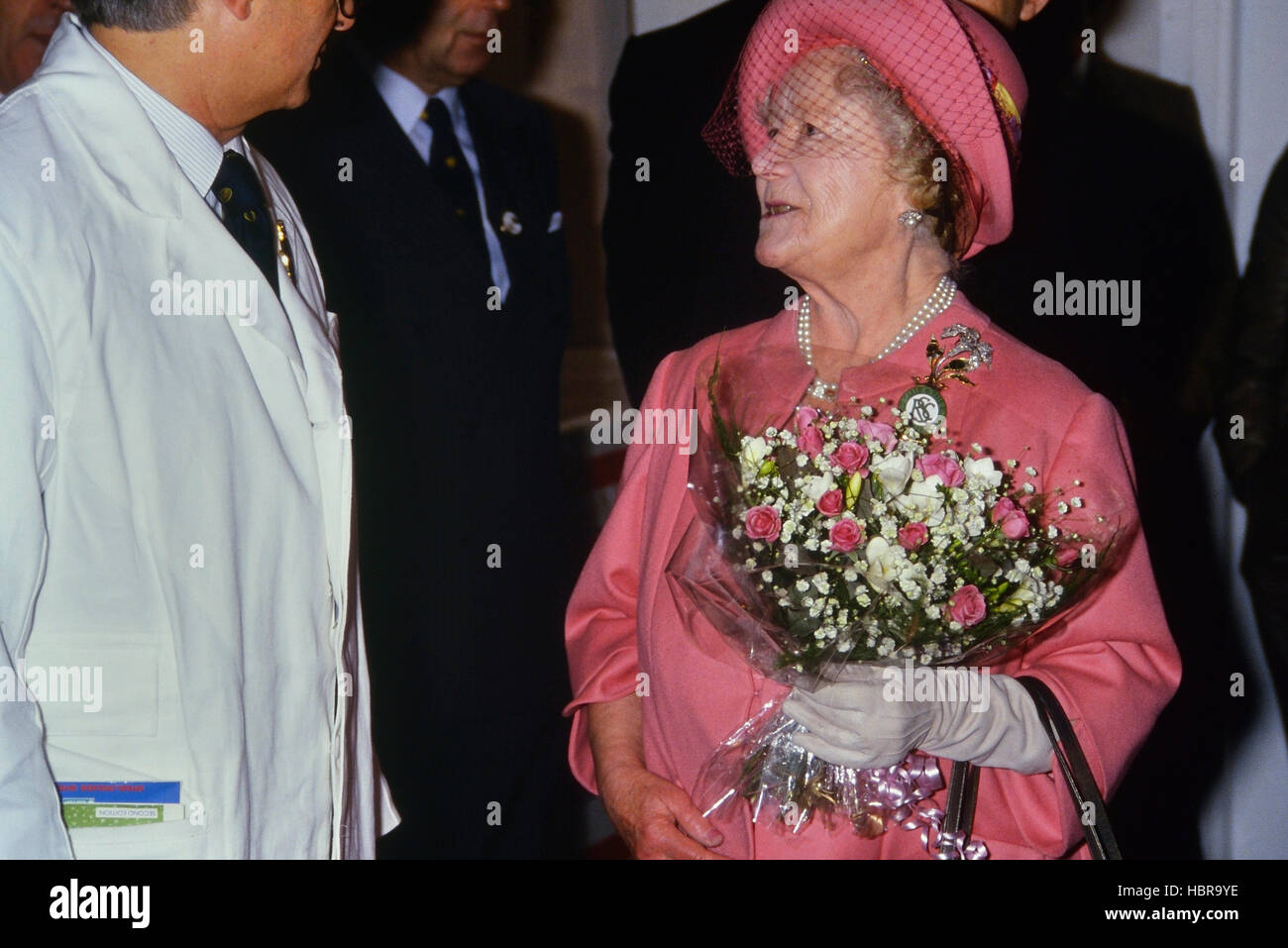 Queen Mother at the Royal Smithfield Show 1989. - Stock Image