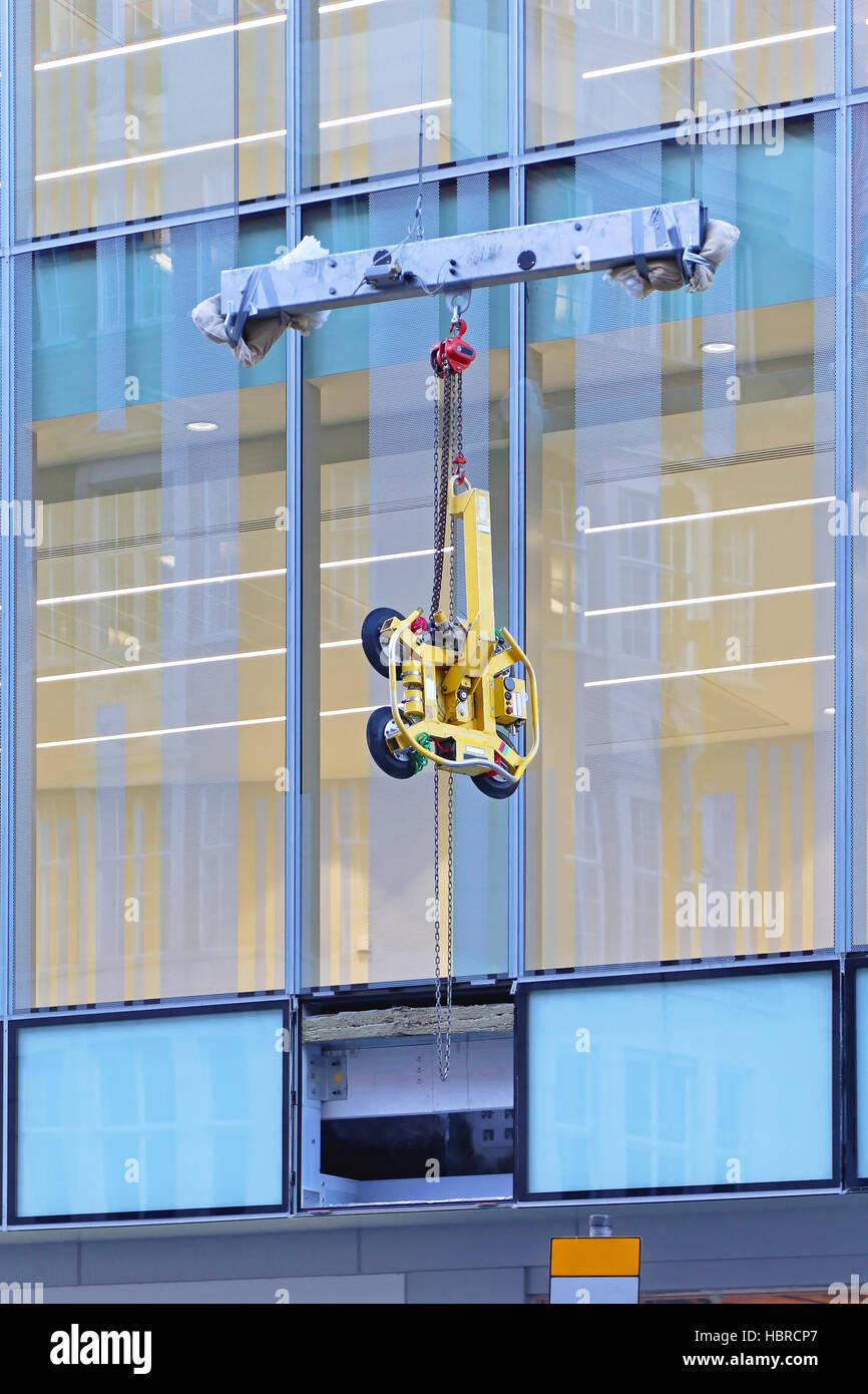 Glass Vacuum Lifter - Stock Image