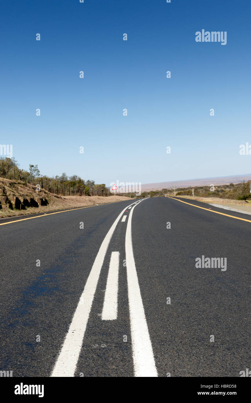 Road leading to nowhere - Stock Image