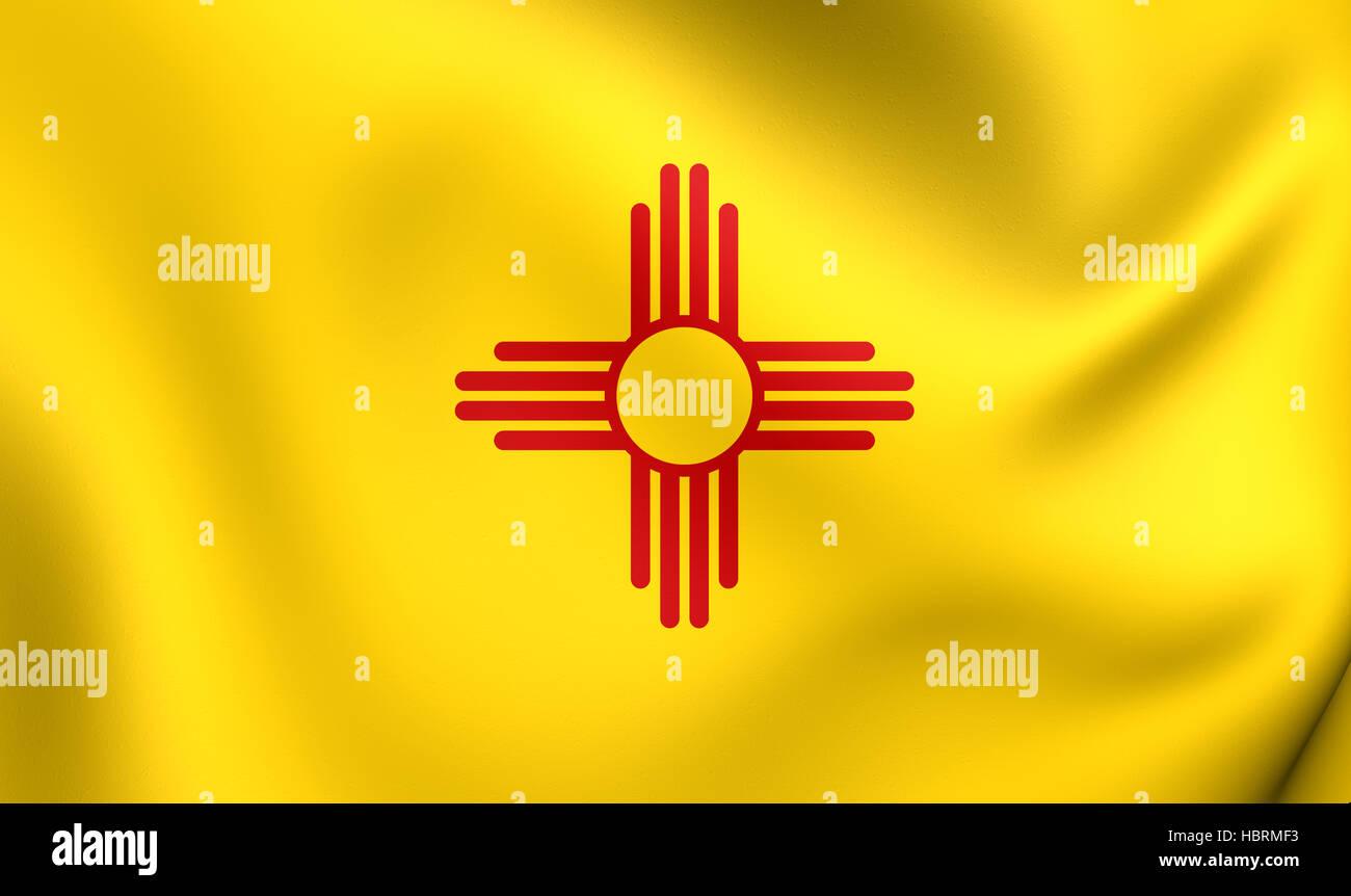 Flag Of New Mexico Usa Stock Photo 127754791 Alamy