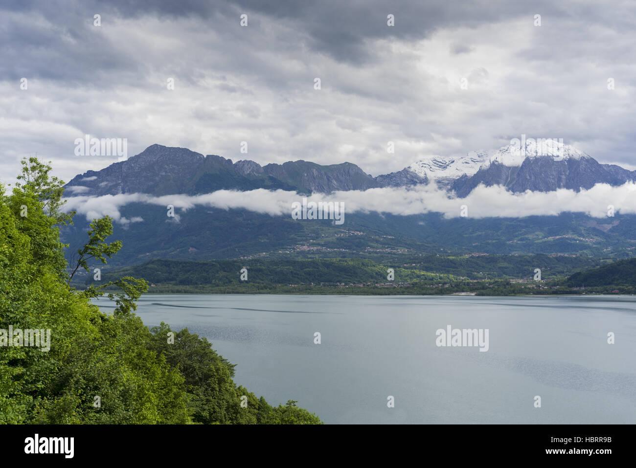 Alpine lake of Santa Croce (Belluno, Italy) - Stock Image