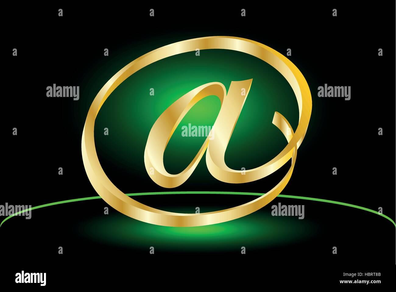 E-mail icon, Vector  e-mail internet icon button - Stock Image