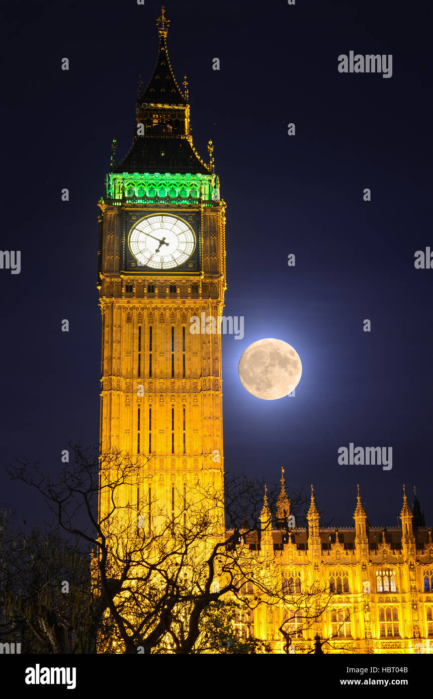 Houses of Parliament, Big Ben, London, England, uk - Stock Image