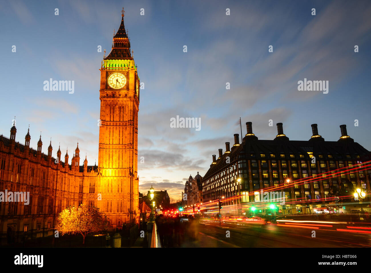 Houses of Parliament, Big Ben, London, England, uk - Stock Image