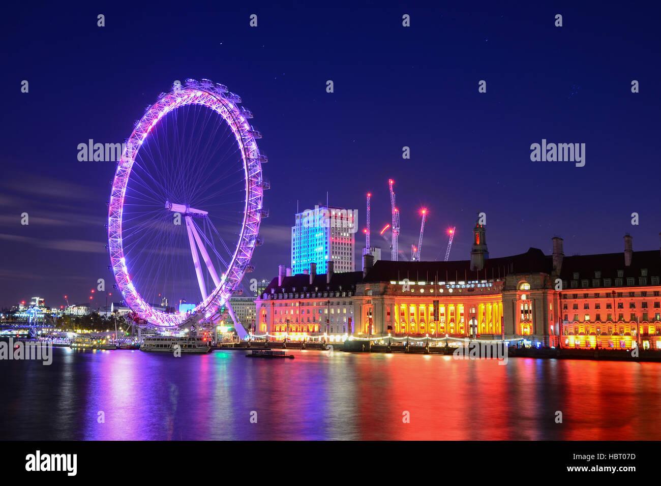 London Eye, London, United Kingdom - Stock Image