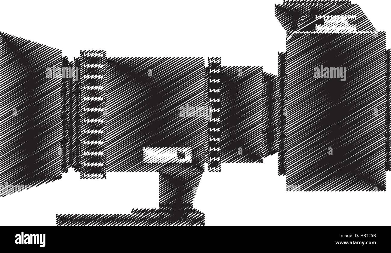 camera photo fron side view - Stock Vector