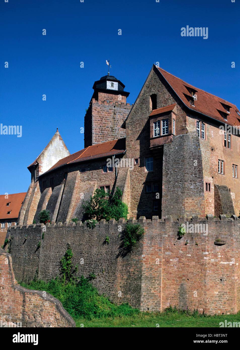Breuberg Castle in the Odenwald region, Hesse, Germany Stock Photo