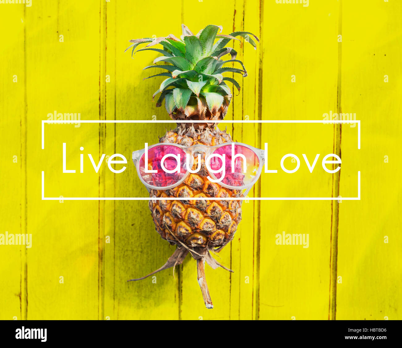 Live Laugh Love Alive Balance Vital Being Concept - Stock Image