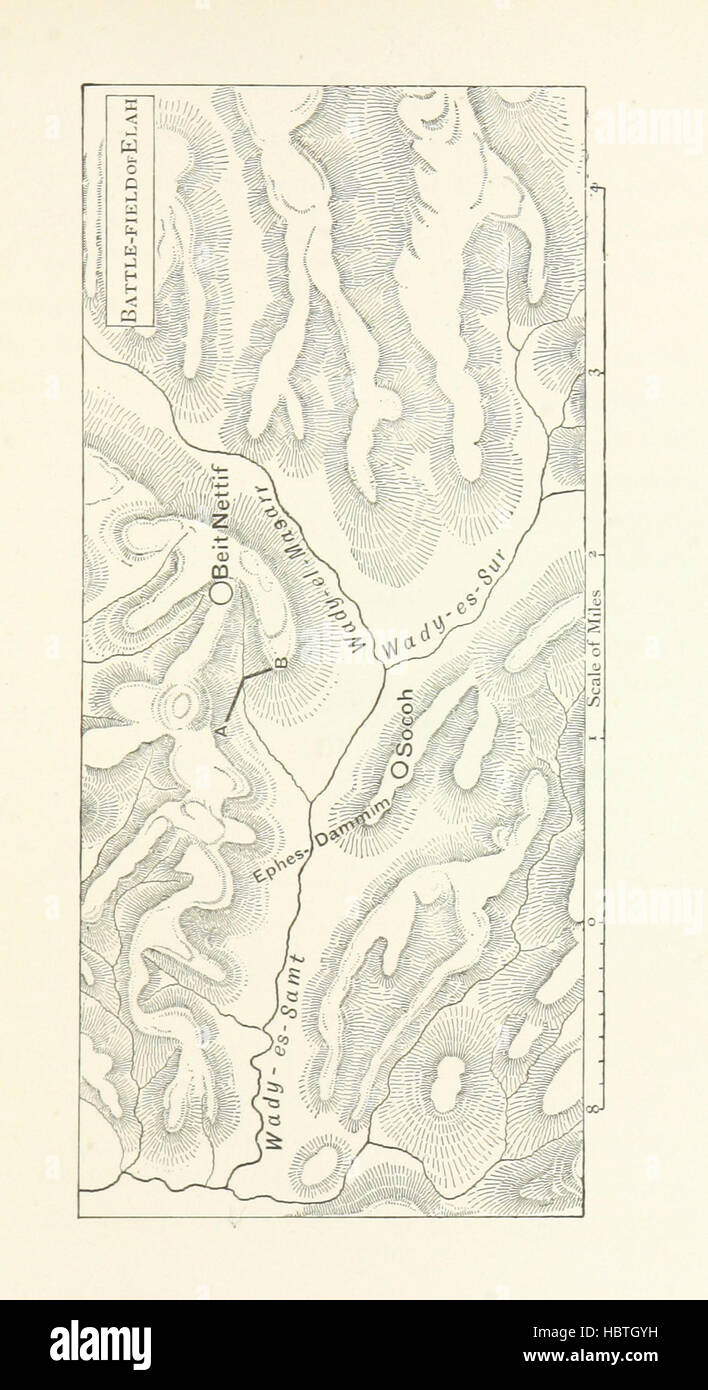 Image taken from page 131 of 'The Least of All Lands: seven chapters on the topography of Palestine in relation - Stock Image