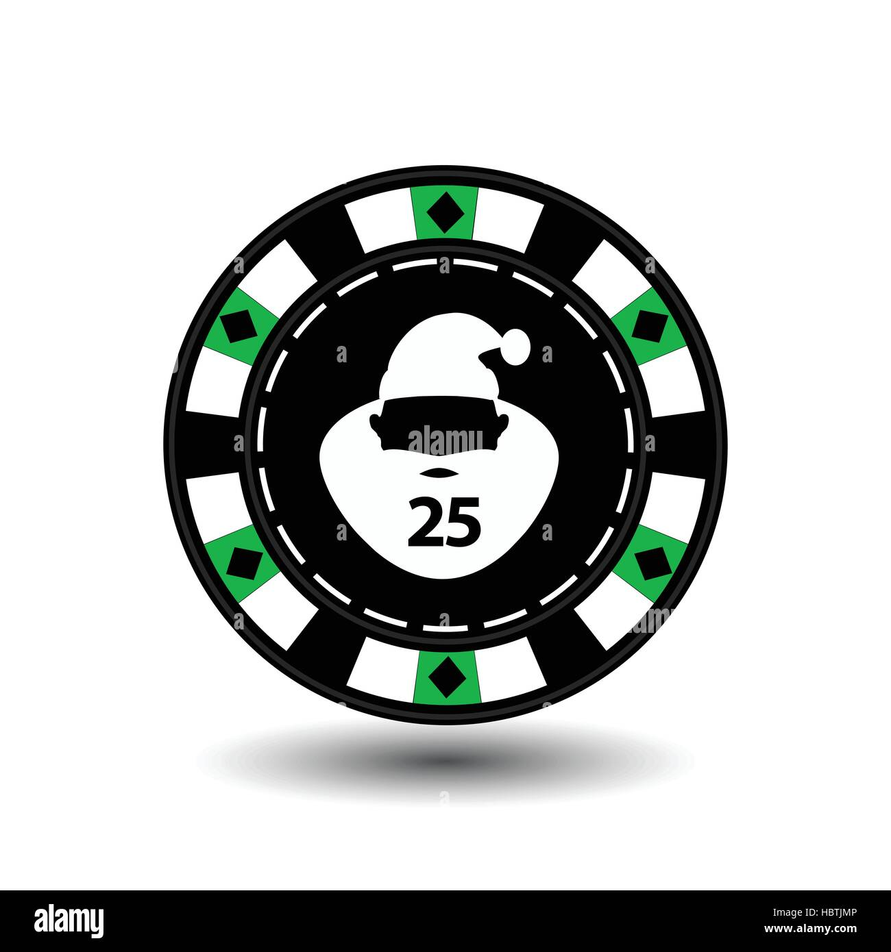 chip poker casino christmas new year icon vector illustration eps 10 on white easy to