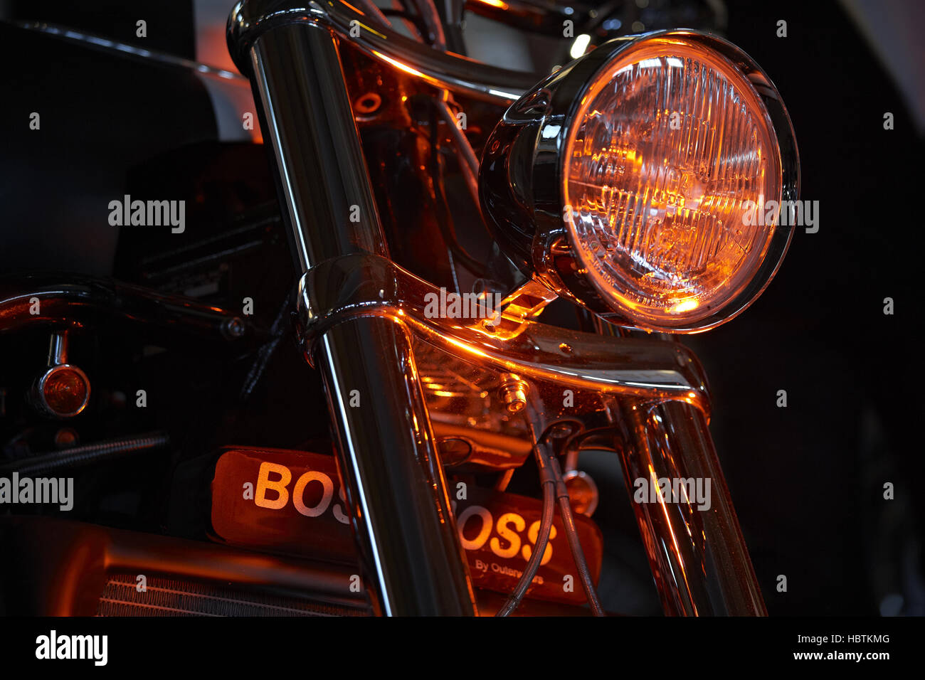 Harley Davidson - Lights - Stock Image
