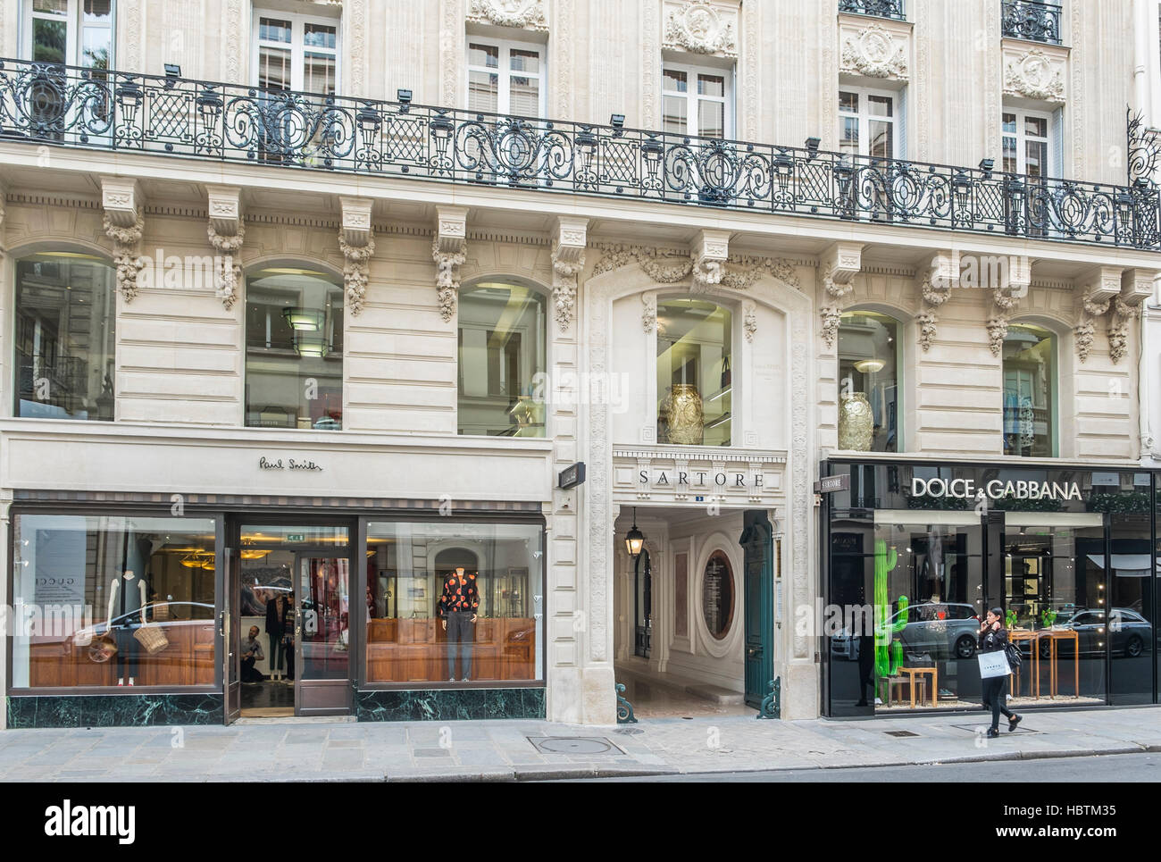 82844d8b196 paul smith, satore and dolce & gabbana stores - Stock Image