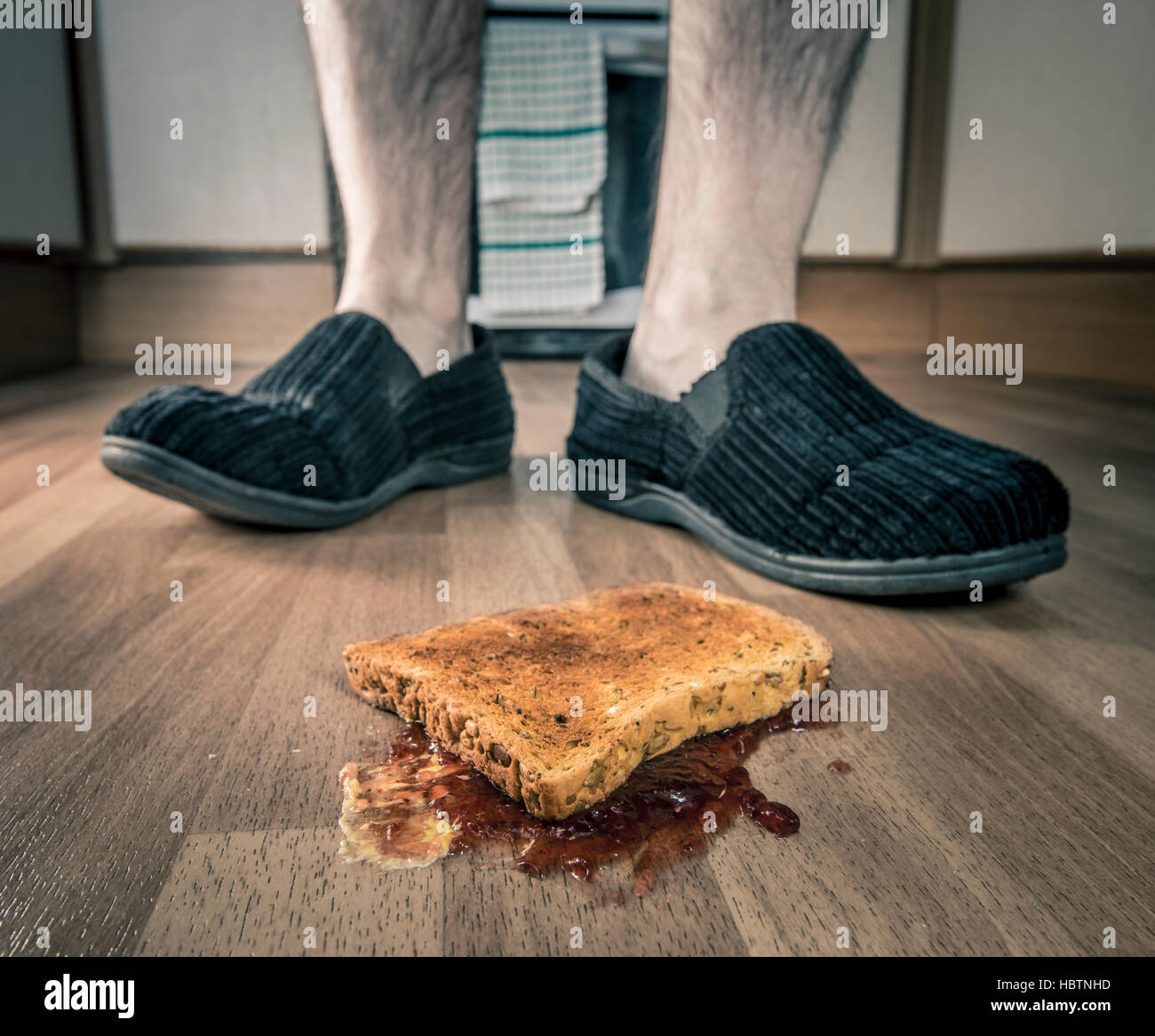 Bad luck breakfast - Stock Image