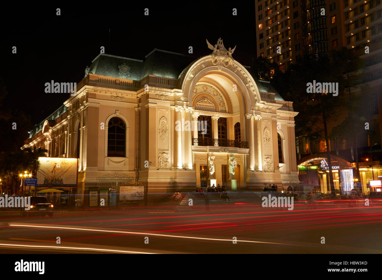Historic Municipal Theatre of Ho Chi Minh (aka Saigon Opera House), Ho Chi Minh City (Saigon), Vietnam Stock Photo