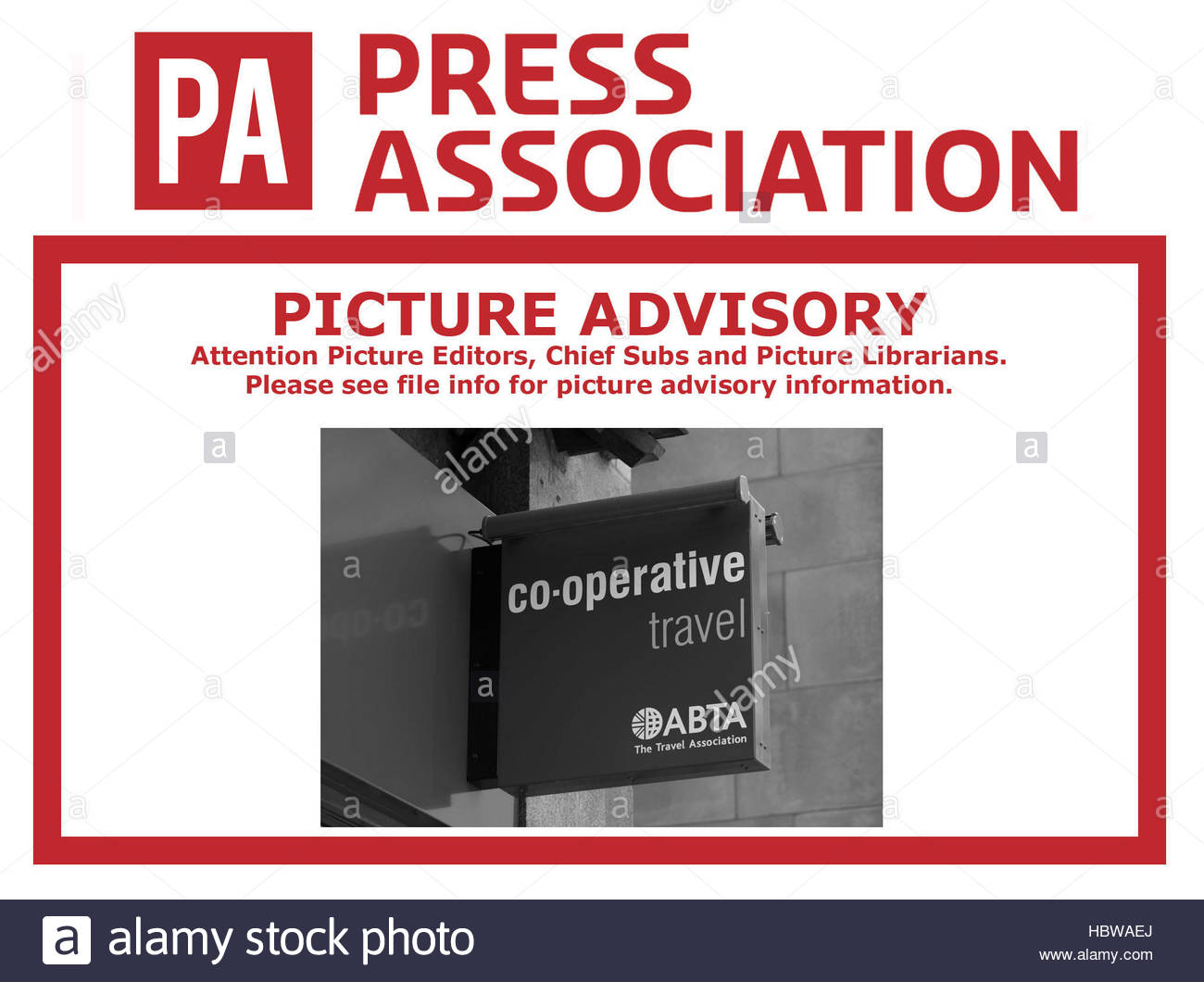 PLEASE BE ADVISED THAT THIS IMAGE TRANSMITTED ON THE PA WIRE EARLIER TODAY SLUGGED CITY THOMASCOOK SHOWS A MIDCOUNTIES - Stock Image