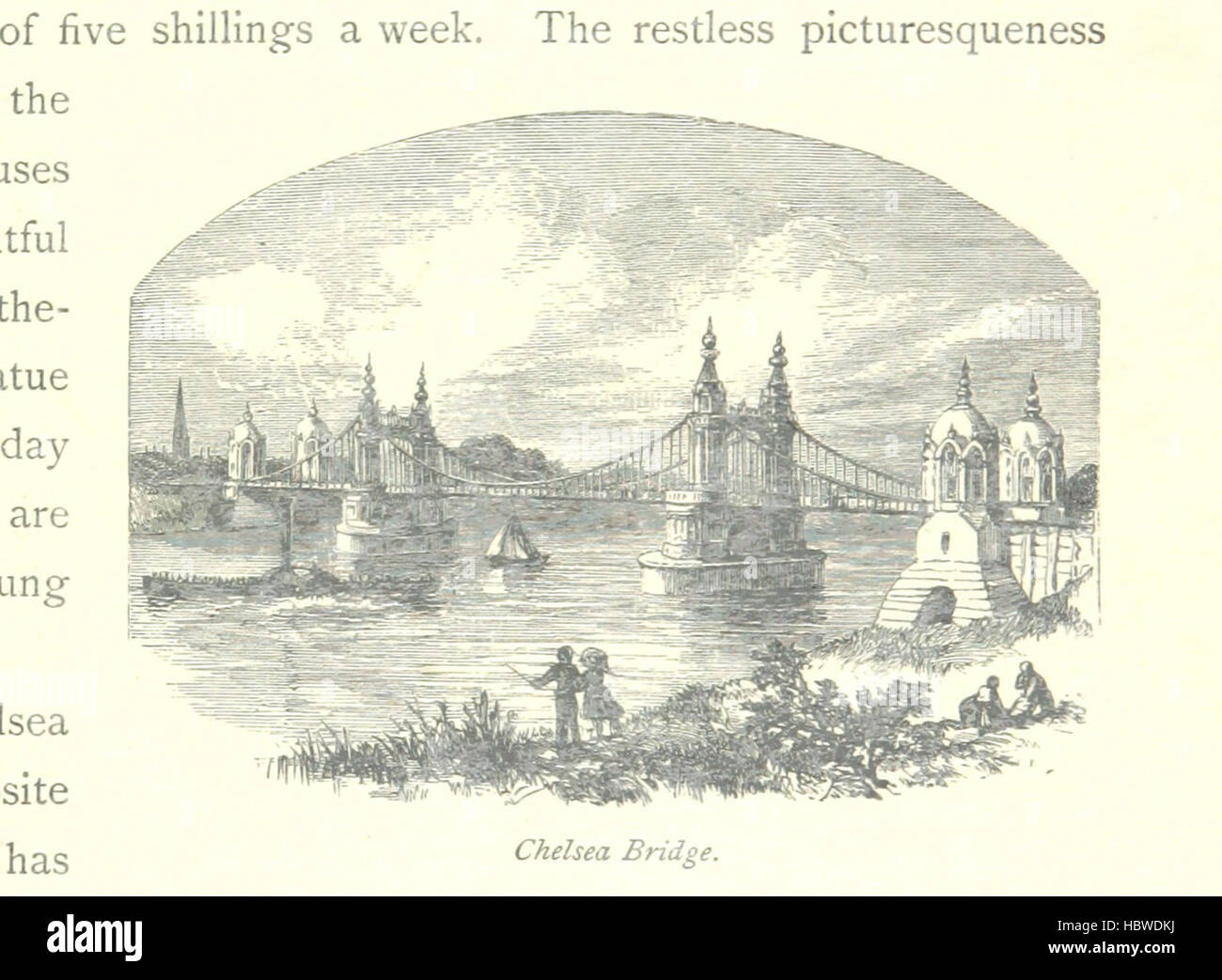 Image taken from page 119 of 'The Thames from its Source to the Sea ... Illustrated with ... engravings ... - Stock Image
