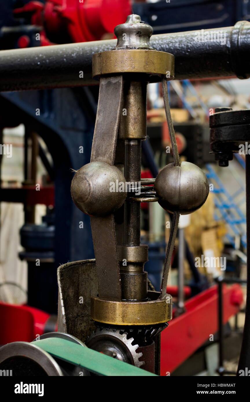 Steam engine - speed regulator - Stock Image