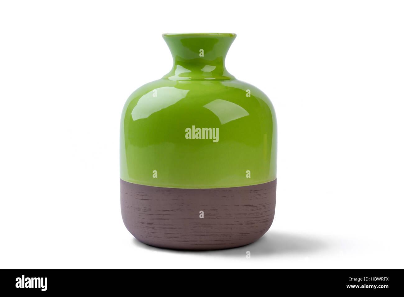 Two-tone vase isolated. - Stock Image