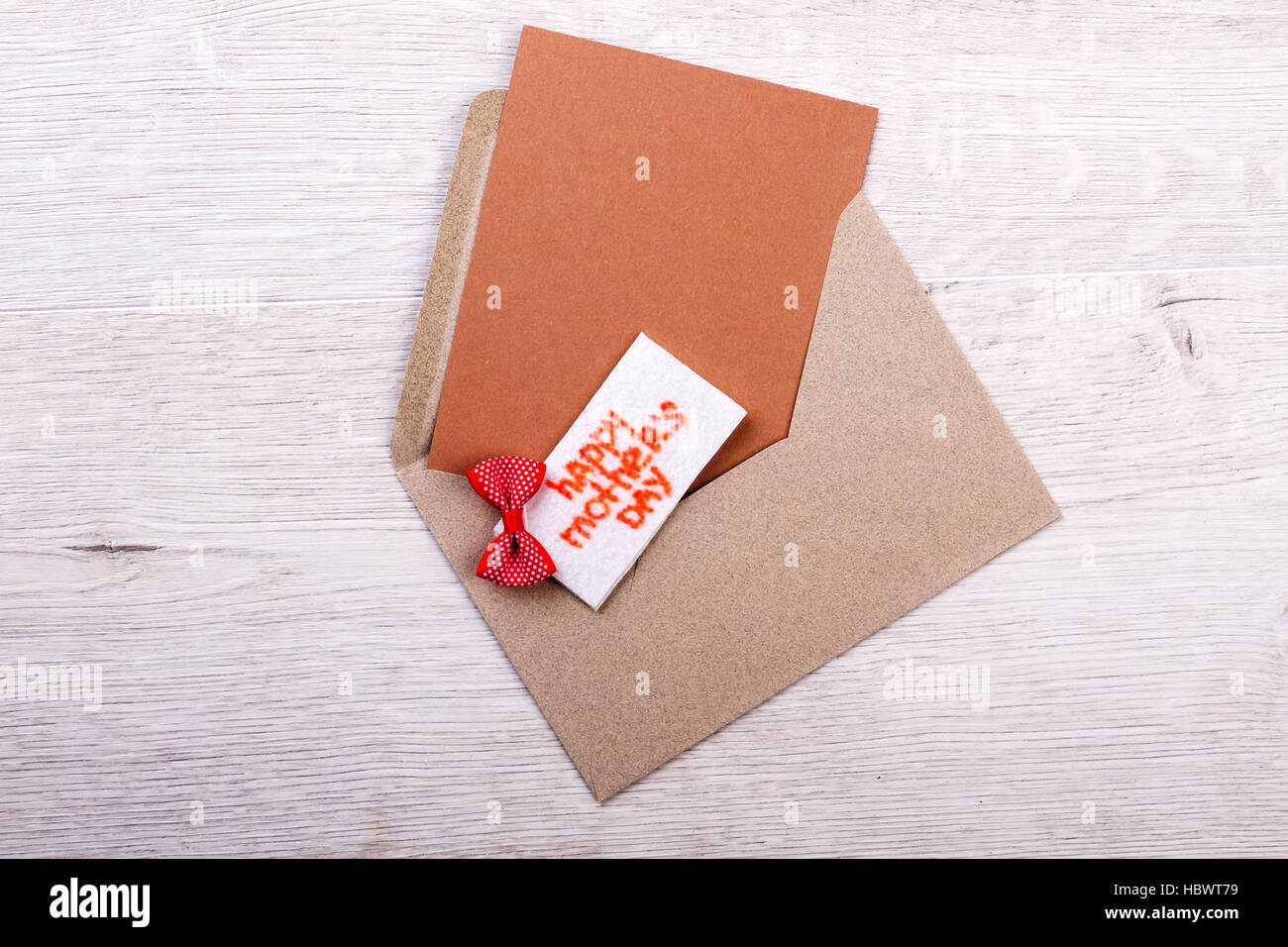 Mother's Day enveloped greting card. - Stock Image