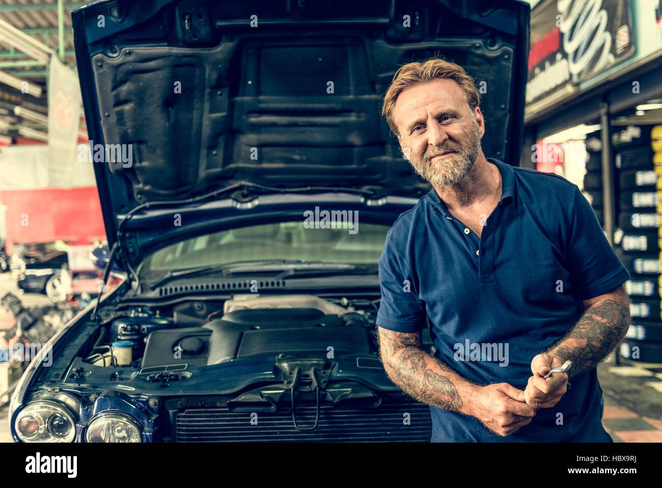 Rj Auto Repair >> Auto Repair Shop Mechanic Technician Concept Stock Photo