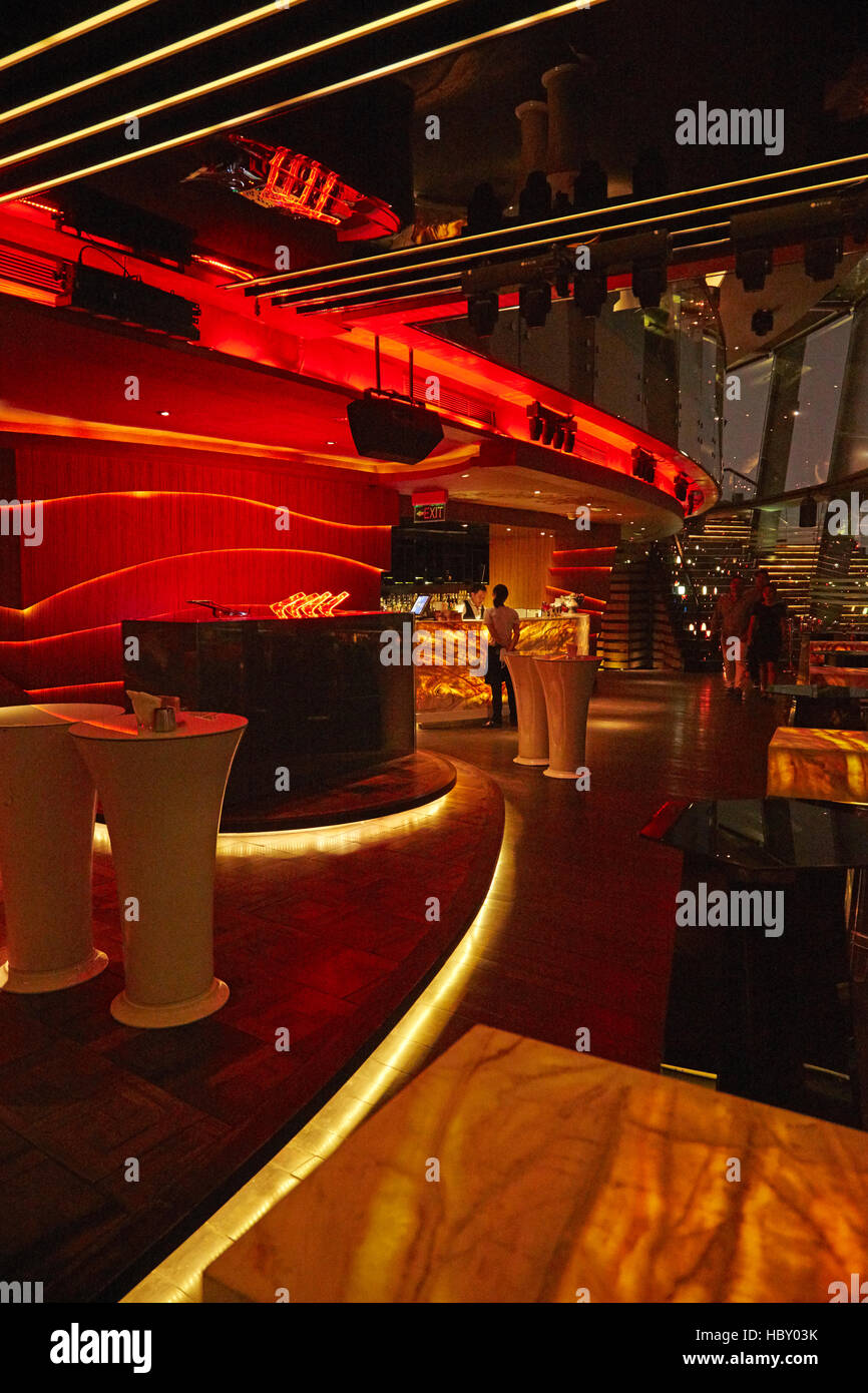 Chill Skybar at night, Ho Chi Minh (Saigon), Vietnam - Stock Image