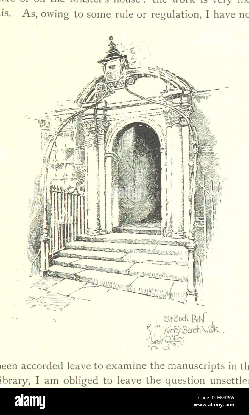 Image taken from page 105 of 'The Inns of Court and Chancery ... New edition' Image taken from page 105 - Stock Image