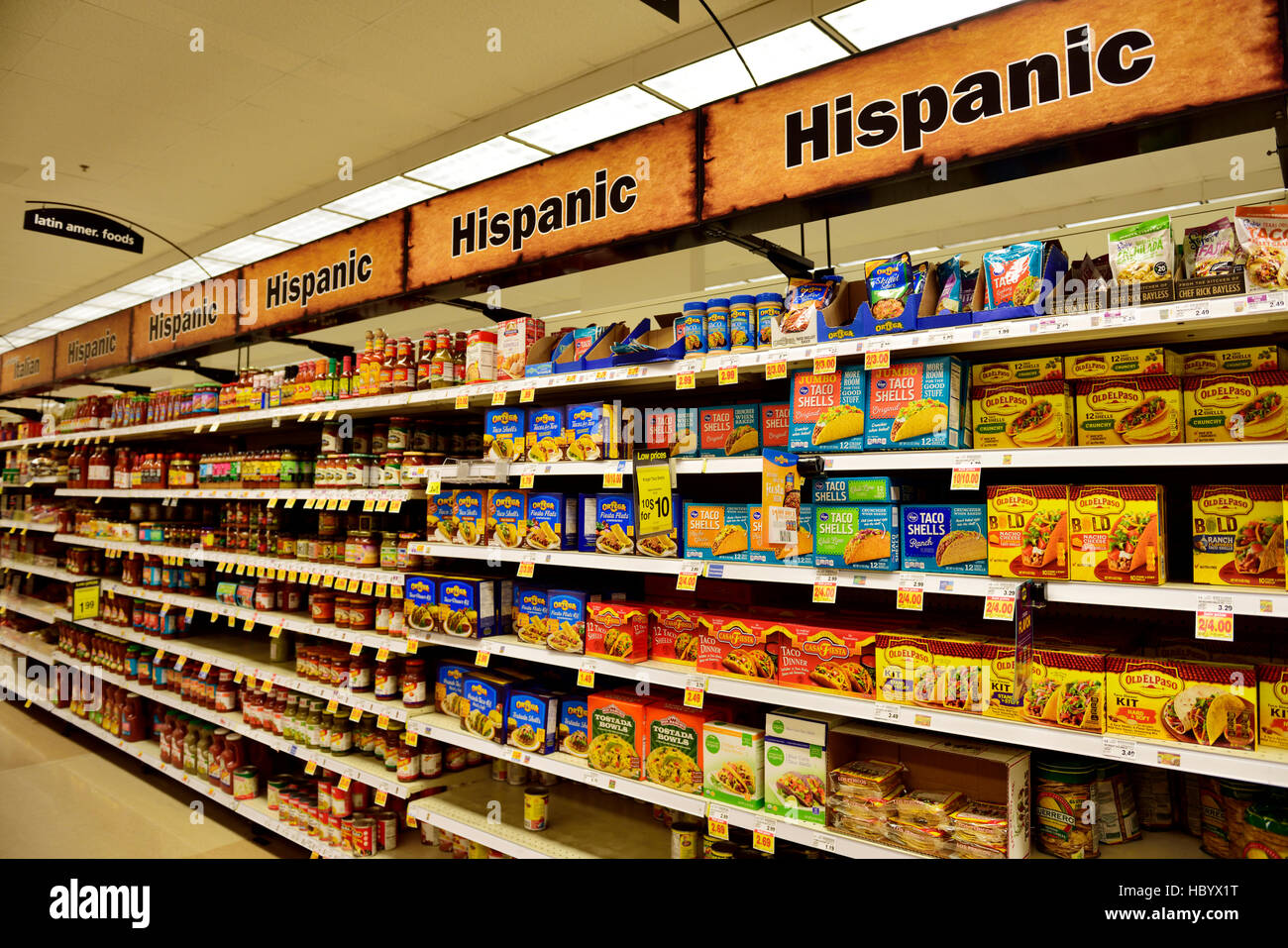 Mexican Supermarket Stock Photos & Mexican Supermarket Stock
