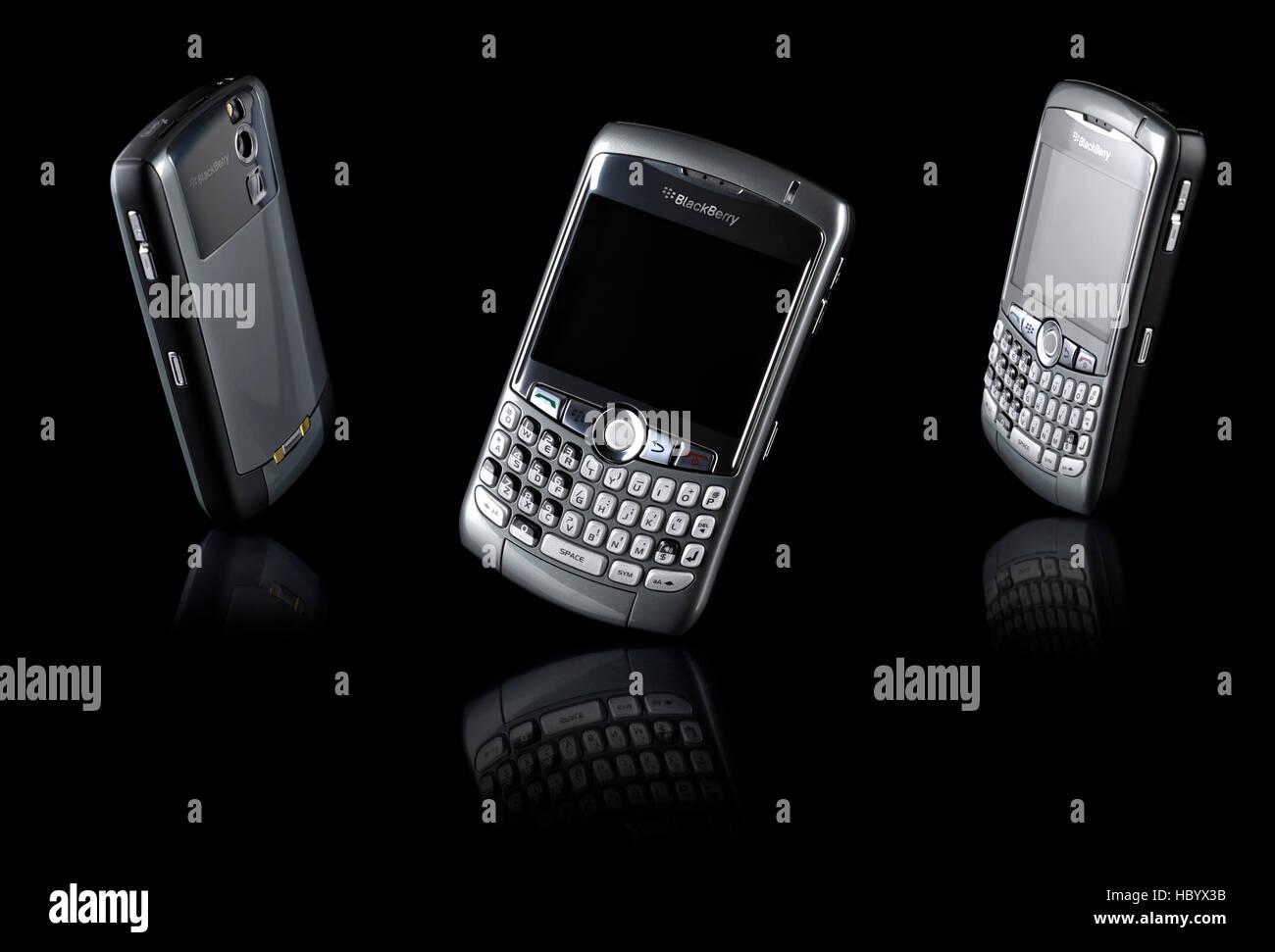 BlackBerry 8310 Curve, stylish smartphones - Stock Image