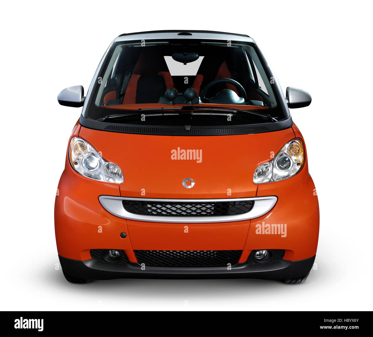 2008 Smart Fortwo, fuel efficient mini city car, front view - Stock Image