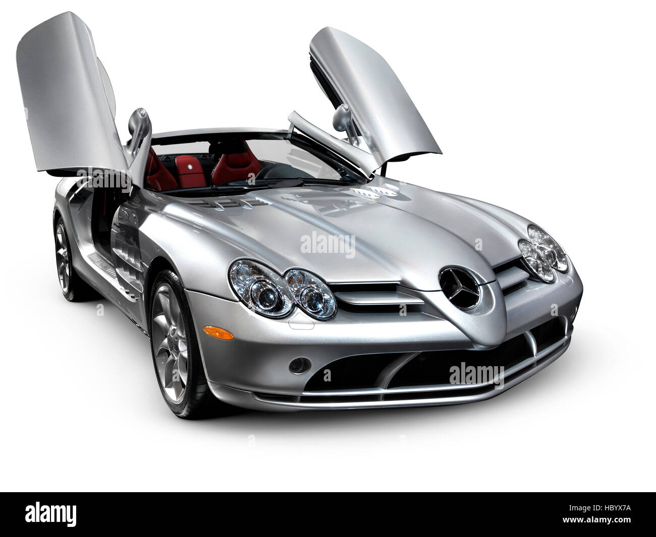 Mercedes Benz SLR McLaren Roadster Anglo-German sports car - Stock Image