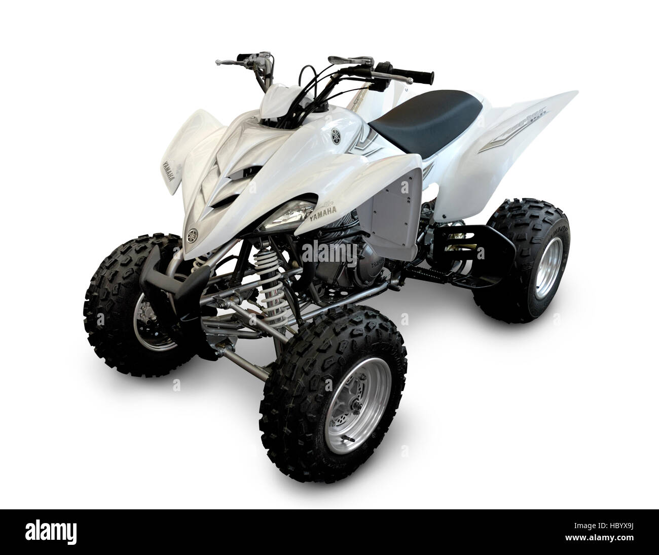 Yamaha Raptor 350 2007, all terrain vehicle, ATV, four wheels bike - Stock Image