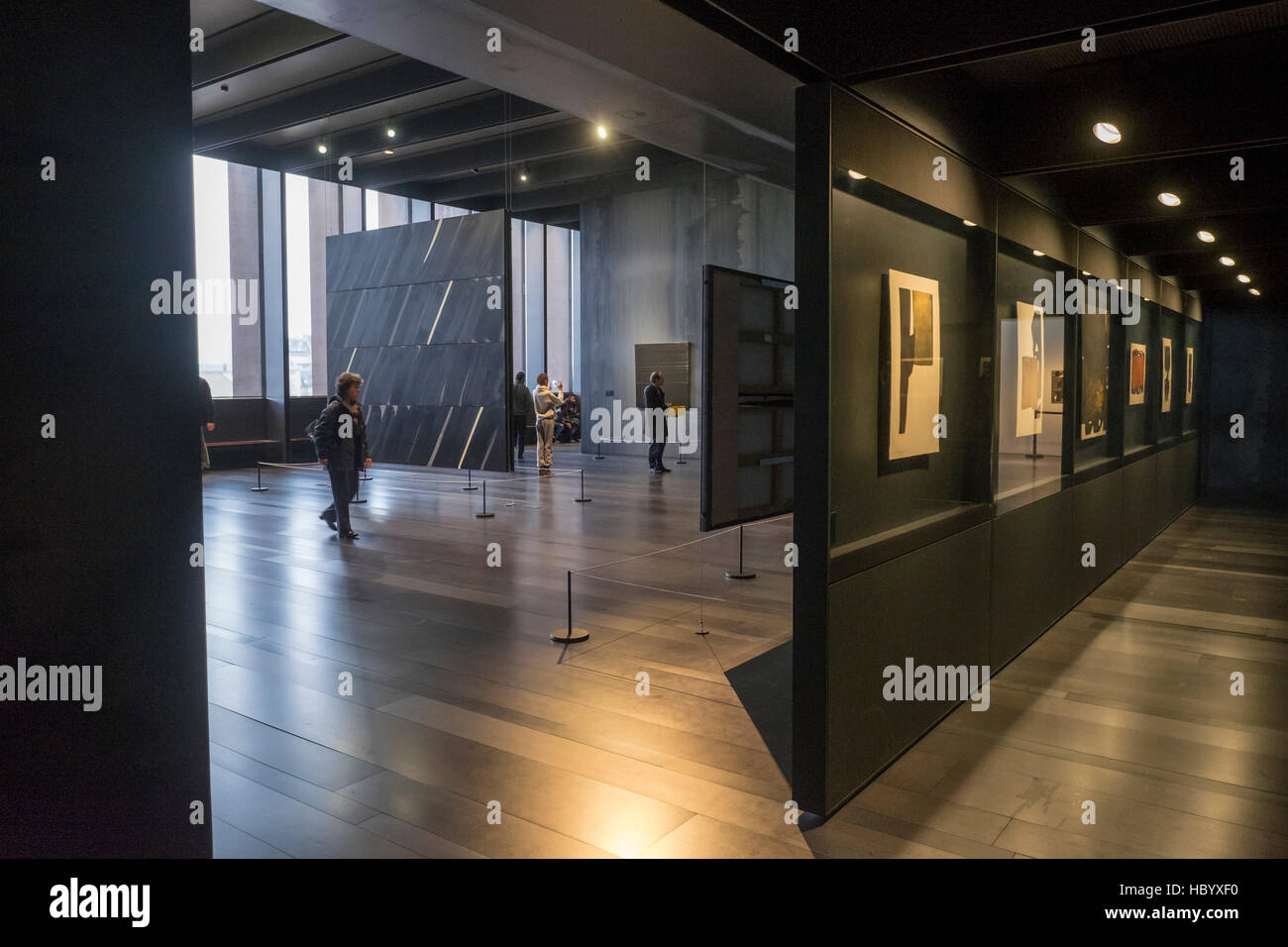 Musée Soulages, Soulages Museum, designed by the Catalan architects RCR associated with Passelac & Roques, - Stock Image