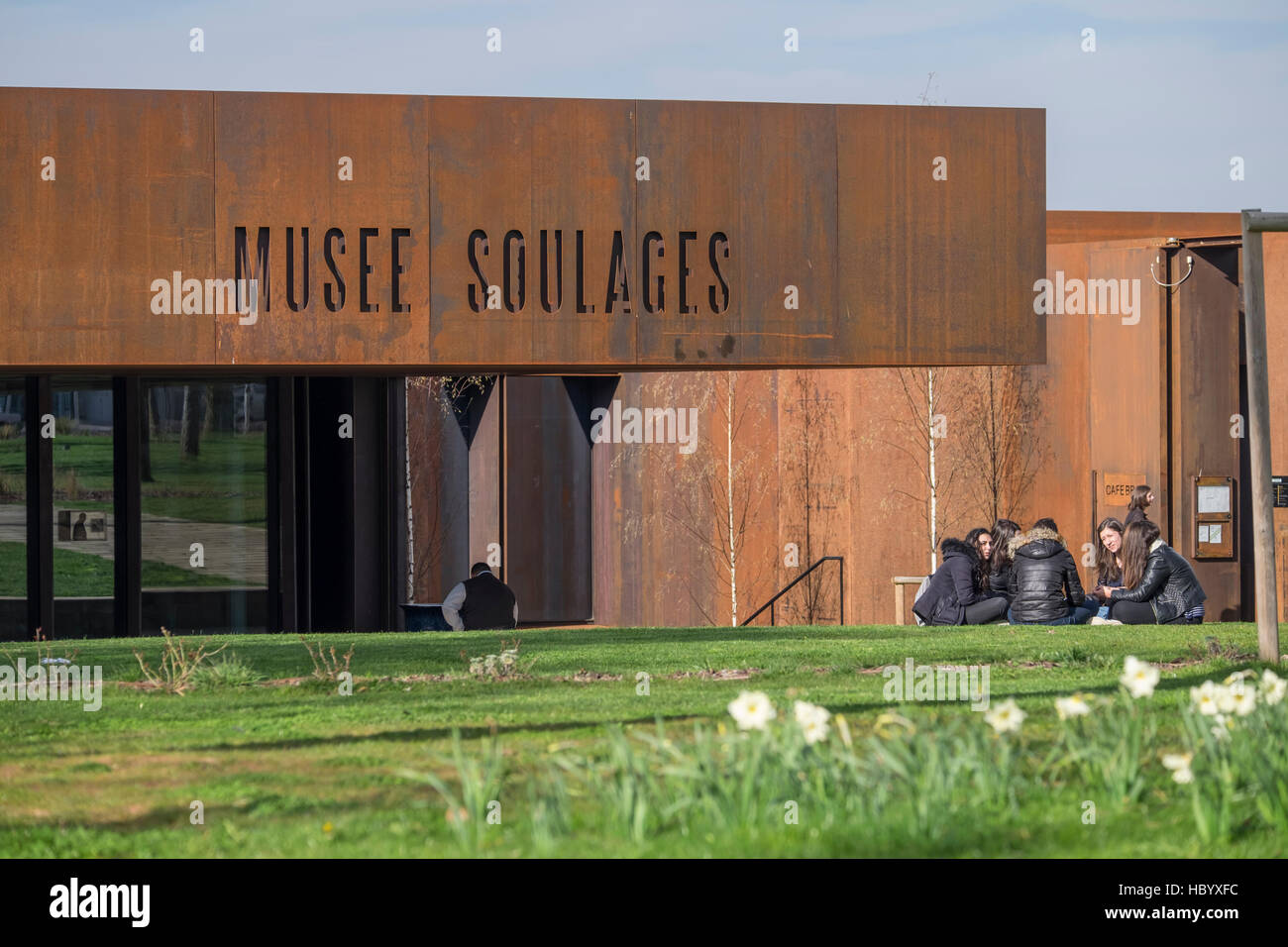 Musée Soulages, Soulages Museum, designed by the Catalan architects RCR associated with Passelac & Roques, Rodez, Aveyron, Stock Photo