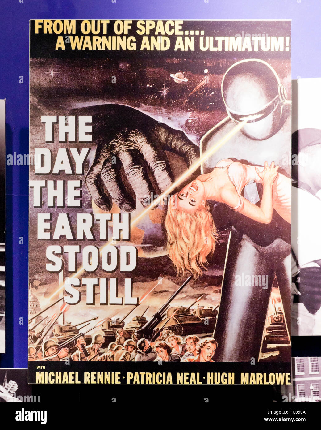 'The Day the Earth Stood Still' movie poster - USA - Stock Image