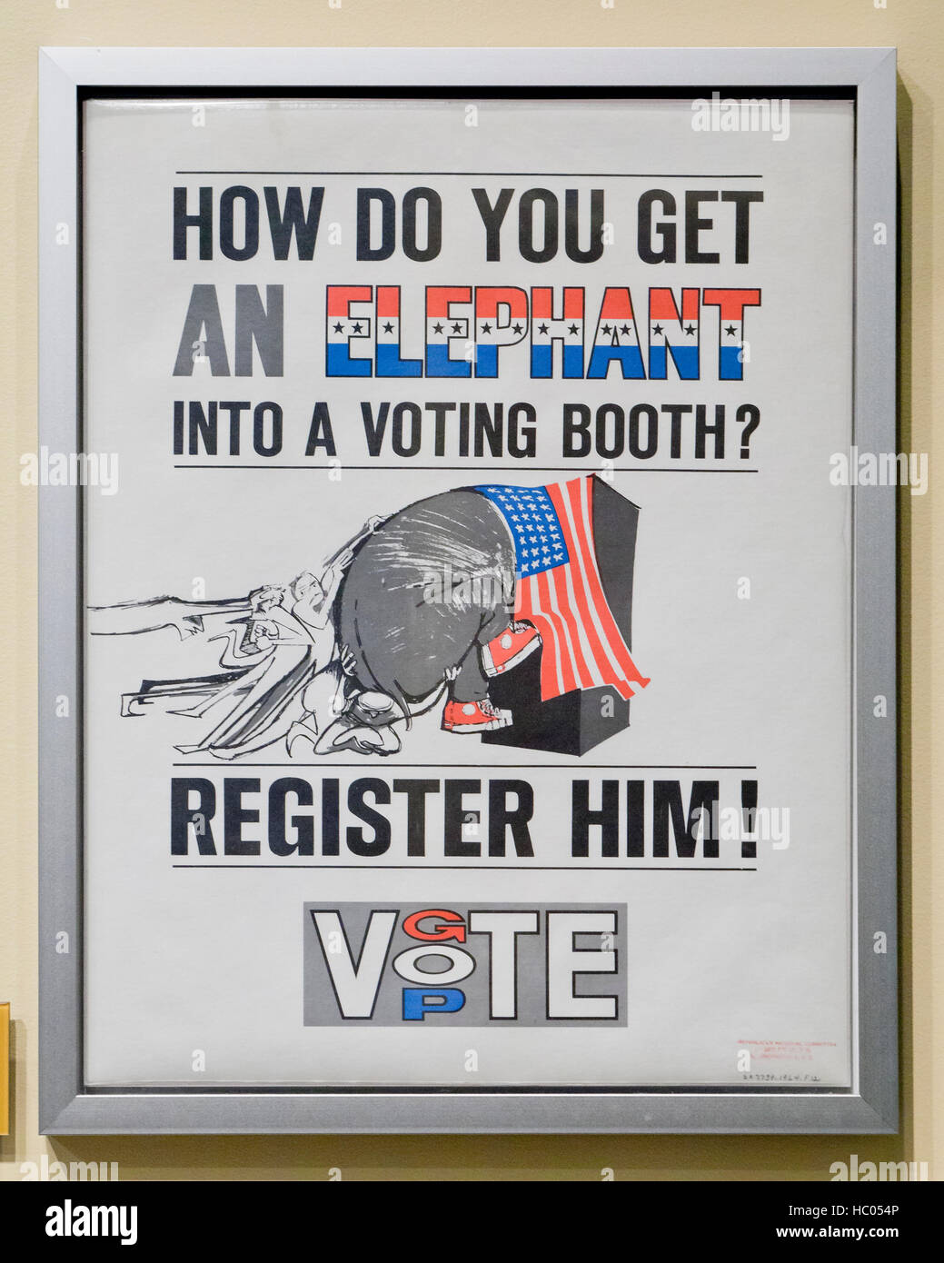 Republican National Committee Voting promotion poster, circa 1964 - USA - Stock Image