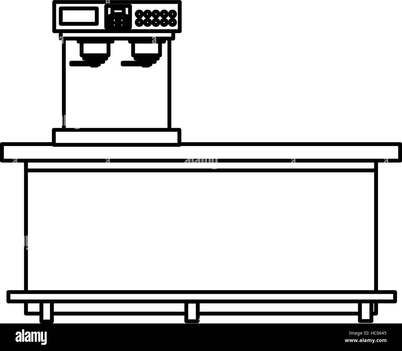 Isolated Coffee Machine Design Stock Vector Art Illustration Diagram