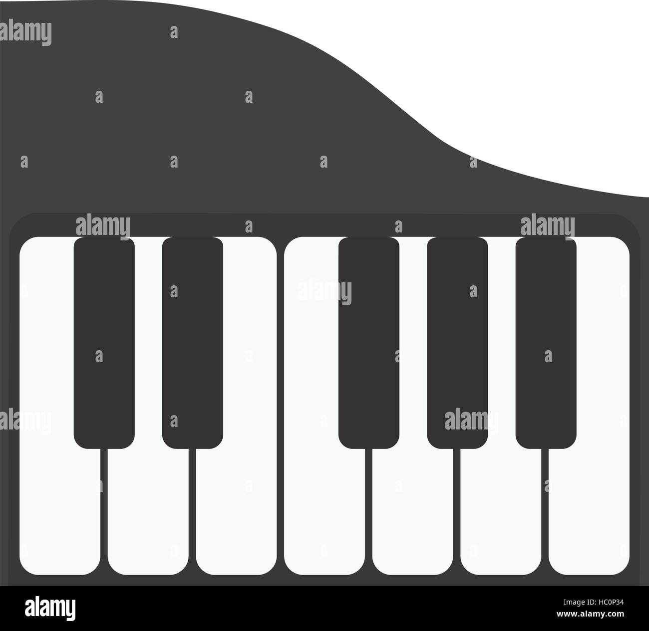 Piano Keyboard Music Instrument Icon Stock Vector Images