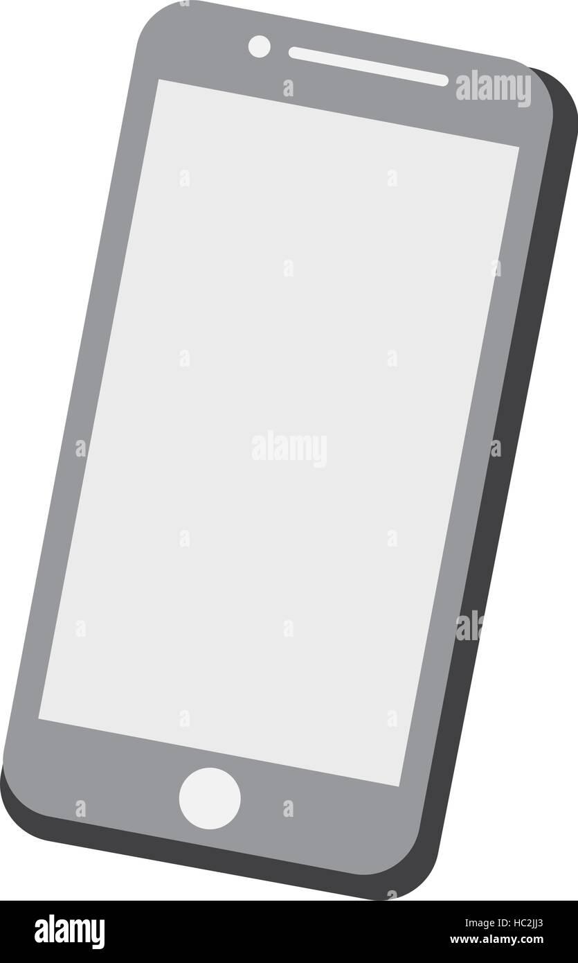mobile phone screen technology gray color Stock Vector