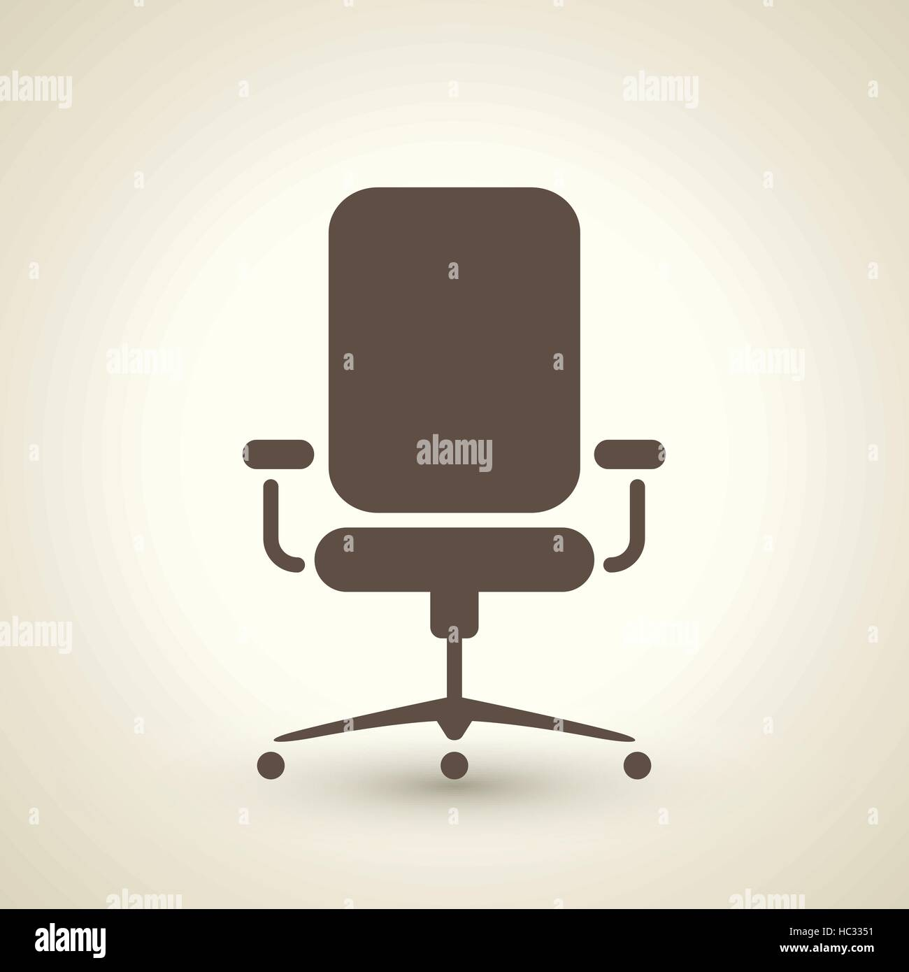 vintage style office furniture. Retro Style Office Chair Icon Isolated On Brown Background Vintage Furniture F