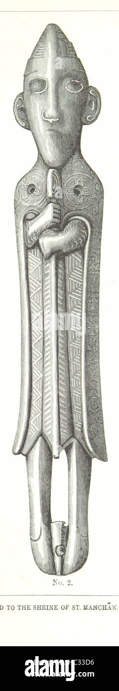 The Church and Shrine of St. Manchán. [With woodcut illustrations.] Image taken from page 33 of 'The Church - Stock Image