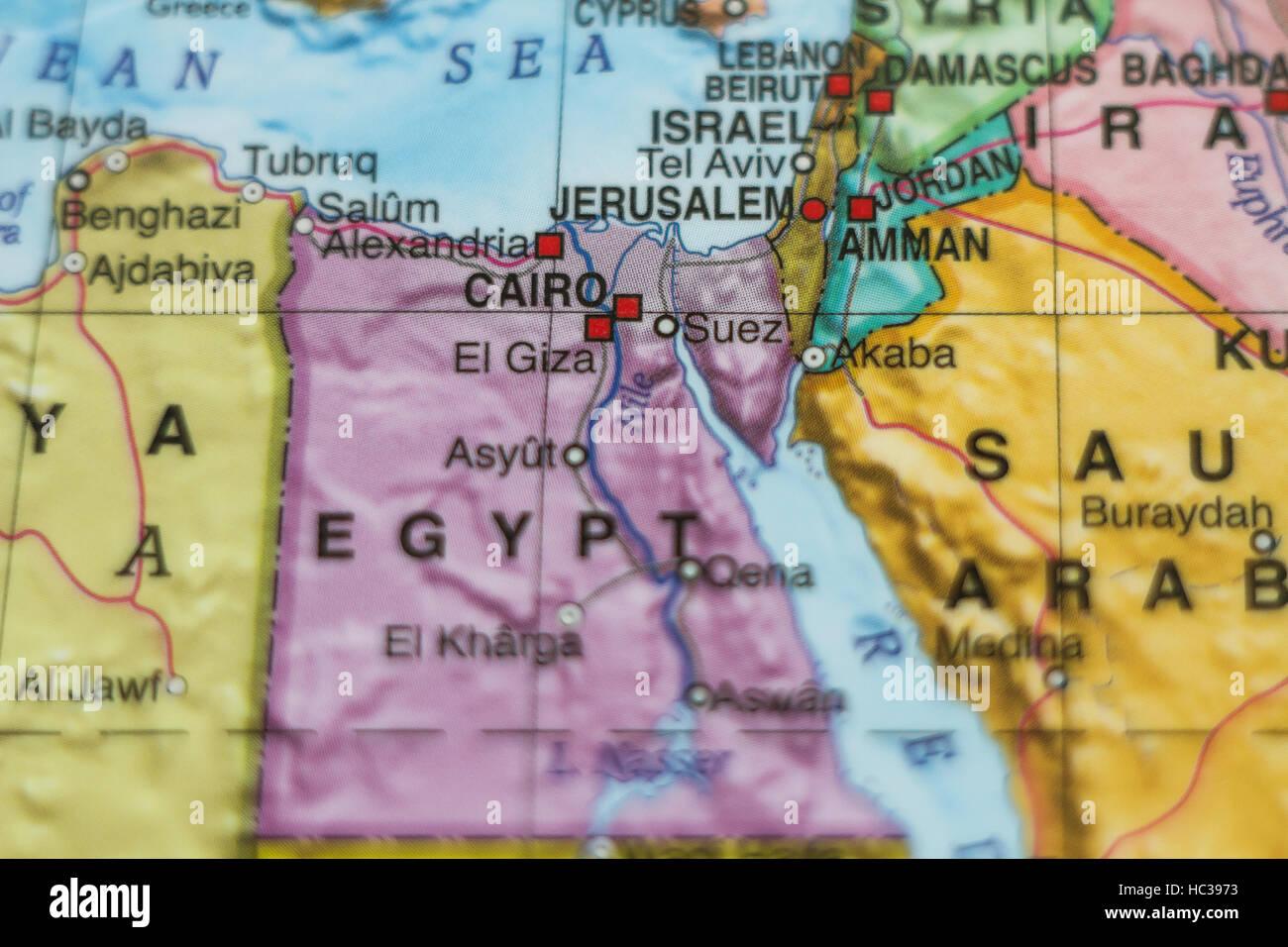Photo of a map of Arab Republic of Egypt and the capital ... on tyre map, beirut on a map, sanaa map, persia map, jordan map, constantinople map, aleppo map, euphrates river map, medina map, syria map, canaan map, mecca map, ankara map, sinai peninsula map, iraq map, muscat map, amman map, jerusalem map, libya map, belgrade map,