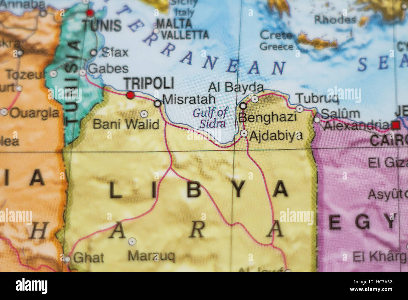 Photo of a map of libya and the capital tripoli stock photo photo of a map of libya and the capital tripoli gumiabroncs Image collections