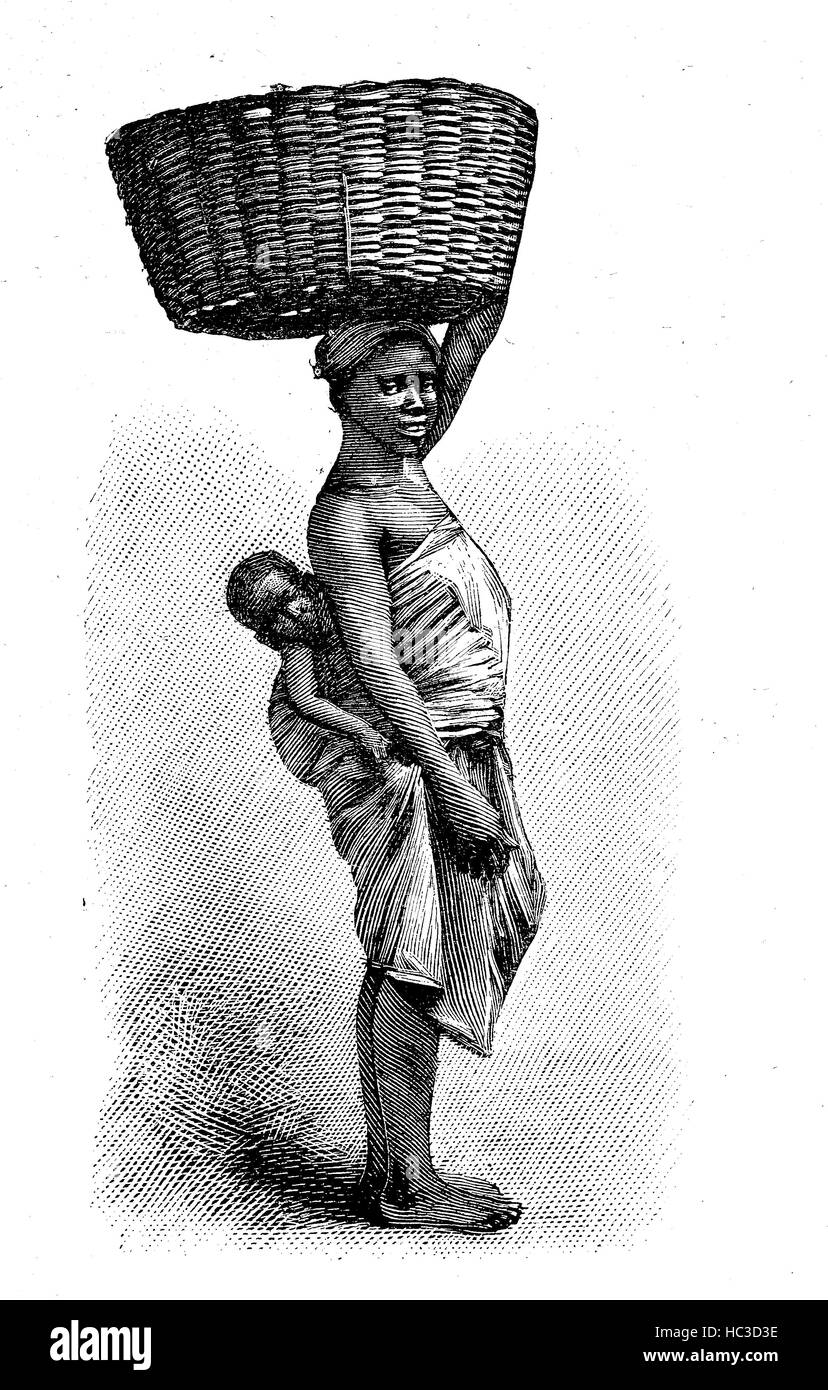 Porto-Novo, Hogbonu,  Ajashe, capital of Benin, and was the capital of former French Dahomey, here an Almond seller, - Stock Image