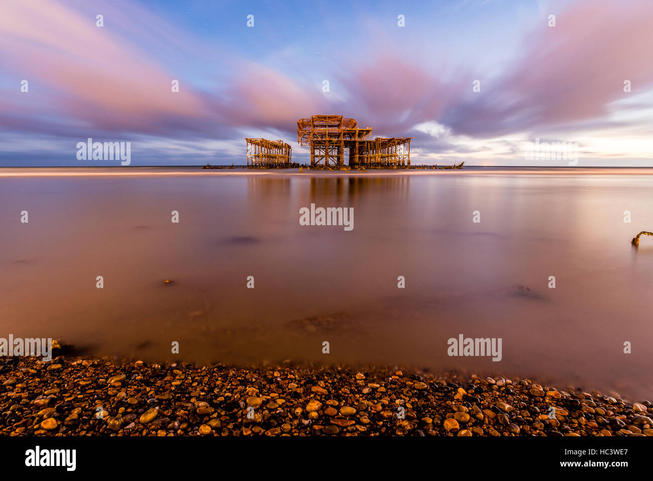 Brighton West Pier, East Sussex, England UK - Stock Image