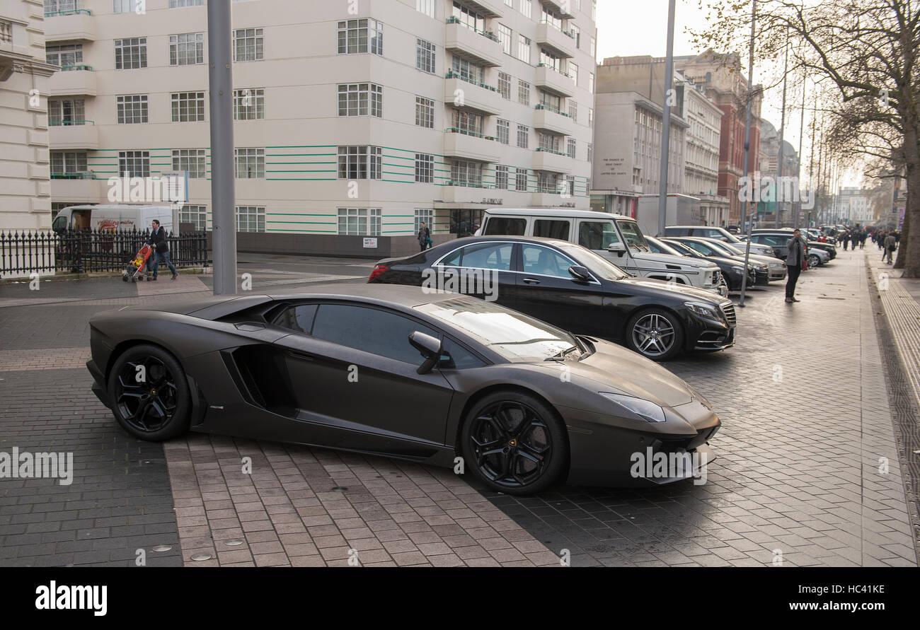Black Lamborghini Aventador Stock Photos Black Lamborghini