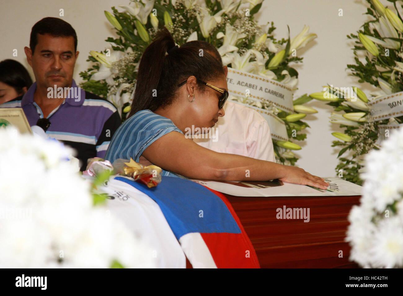 SALVADOR, BA - 04.12.2016: VELORIO DE ANANIAS JOGADOR CHAPECO - Eloi Castro Monteiro Ananias, player Chapecoense - Stock Image